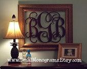 Large Personalized Monogrammed Decal Wall Graphic