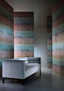 Per Roll Lustre is a vinyl wallcovering with a painterly impressionistic design which creates a raw stripe effect on an embossed crackle-effect ground. This designs looks equally striking hung both vertically and horizontally. Buy Wallpaper Online, Wallpaper Samples, Wallpaper Ideas, Interior Wallpaper, Room Wallpaper, Stripe Line Wallpaper, Feature Wall Design, Guilin, Designers Guild