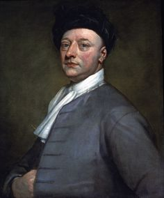 Self Portrait by Sir Godfrey Kneller; Sir Godfrey has removed his wig for a simple cap, and wears a plain coat.