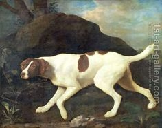 Phillis, a Pointer of Lord Clermonts, 1772 by George Stubbs