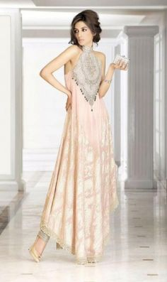 soft pink gown