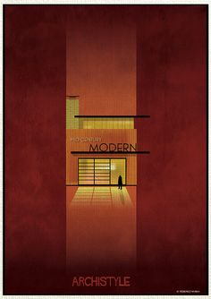 Italian architect and illustrator Federico Babina is back with a new series mixing architecture and illustrations : Archistyle. Building Art, Building Design, School Architecture, Interior Architecture, Humor Grafico, Illustrations, Style Guides, The Past, Architectural Styles