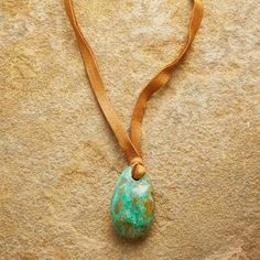 TETHERED TURQUOISE NECKLACE: View 1