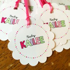 Baby Shower Favor Tag w/ Ribbon