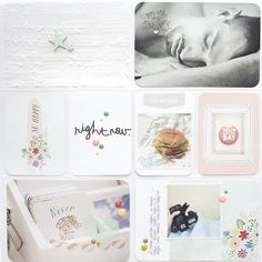 Project life. Incorporate cuddle bug embossed papers, rub ons, etc. to add depth to a PL layout.