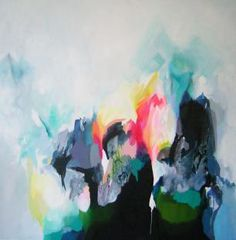 I love Jewels Stevens' work - from NSW in Australia - this piece is called Electrofield. Oil on canvas.