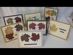 BEST Thanksgiving Card Making Ideas using Leaf Punch, Small Talk Stickers & Gel Pen - YouTube