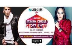 Shopclues Closet Sale Offer : Shopclues buy 1 Get 1 Free Offer : 17-18 December Sale - Best Online Offer