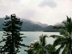 日月潭,颱風天的。20130921。