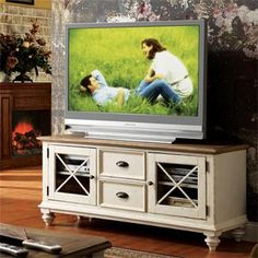 I like this better with out a top, our tv isn't that big. Ashley dealer in Craig