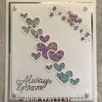 Cascading Hearts and Ombre Holographic Glitterbitz