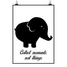 Poster DIN A2 Elefant aus Papier 160 Gramm  weiß - Das Original von Mr. & Mrs. Panda.  Jedes wunderschöne Poster aus dem Hause Mr. & Mrs. Panda ist mit Liebe handgezeichnet und entworfen. Wir liefern es sicher und schnell im Format DIN A2 zu dir nach Hause.    Über unser Motiv Elefant  Dickhäuter kommen neben dem Zoo in freier Wildbahn in der Savanne vor und sind die größten lebenden Landtiere. In Afrika und Asien ist der Elefant heimisch. Die Rüsseltiere sind friedlich und sehr schlau…