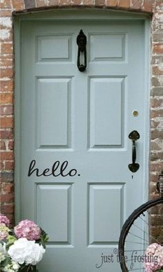 Hello. Decal  Vinyl Decal for your Front Door  by JustTheFrosting, $5.00