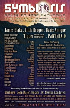 Symbiosis Gathering 2012 Lineup in Pyramid Lake, Nevada