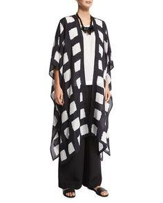 Shibori coat by Eskander