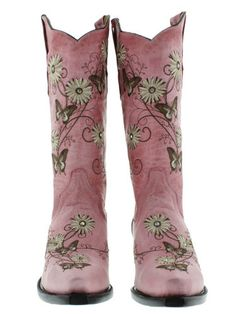 Womens Cowboy Boots Ladies Gringo Love Butterfly Flower Rhinestone Old Pink Snip | eBay