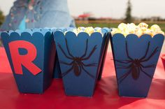 20 Spiderman Party Boxes by EmbellishedPaper on Etsy, $40.00