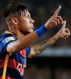 Picture: Neymar celebrating [via Sports Mix, Neymar Jr, Soccer Players, Fc Barcelona, Messi, Sports And Politics, My Hero, Football, My Love
