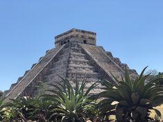 Chichen Itza Mayan Pyramid- 7 wonders of the world, Yucatan Peninsula, Cancun, Mexico Mexico Destinations, Travel Destinations, Cancun Mexico, Mexico Travel, Snorkeling, Wonders Of The World, Palm Trees, Places To Visit, Water