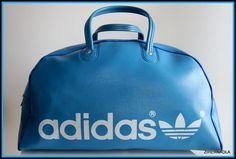 VINTAGE ADIDAS HOLDALL BLUE BAG 70 s YUGOSLAVIA BLUE HAND GREAT CONDITION  RETRO f48bfbb6a6586