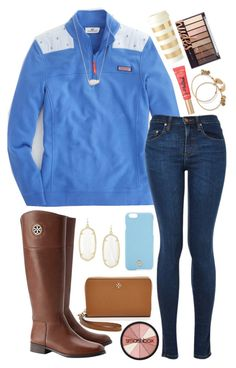 """""""Set for Abby"""" by lbkatie17 on Polyvore featuring Tory Burch, Kendra Scott, Smashbox, Too Faced Cosmetics, Alex and Ani and Kate Spade"""