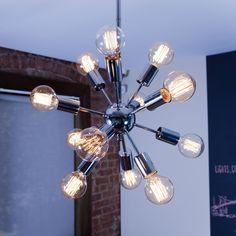 Lights.com | Home & Garden | Ceiling Lights | 12-Light Sputnik Pendant in Chrome, Small