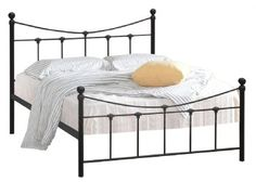 An Elegant Satin Black Finished Metal Bed with Antique Gold Highlights.  The sprung slatted base gives extra comfort and a longer mattress life.  The World of Beds stock a large range of Divan beds, deliver for free and give you a service you can only wish for.