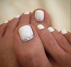 Cool summer pedicure nail art ideas 59 #Pedicure