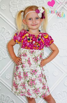 Josie's Ruffle Fabric Peasant Dress and Top by CreateKidsCouture