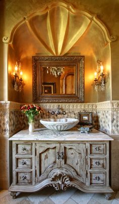 62 Italian Villa Powder Room