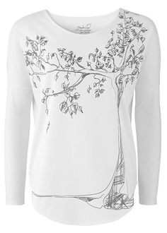 TREE TEE IN ECO WHITE http://peopletree.co.uk/womens/tops/tree-tee-in-eco-white #fashiontakesaction