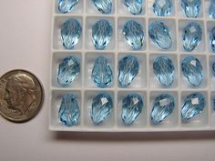 144 PIECES SWAROVSKI BEAD #5500 - 10.5x7MM - AQUAMARINE - FACTORY PACKAGE | Jewelry & Watches, Loose Beads, Crystal | eBay!