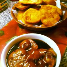 Chilean food; Sopaipillas are a traditional Chilean food,  a snack eaten during winter time,  made of  ground pumpkin mixed with dough; and then it's fried.