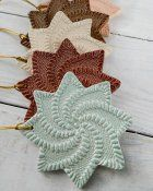 Pinwheel Ornament Maggies Crochet on Pinterest.These would make good coasters .
