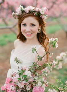 Cherry Blossom Wedding Flowers | photography by http://www.jenfariello.com | floral design by http://www.southern-blooms.com/