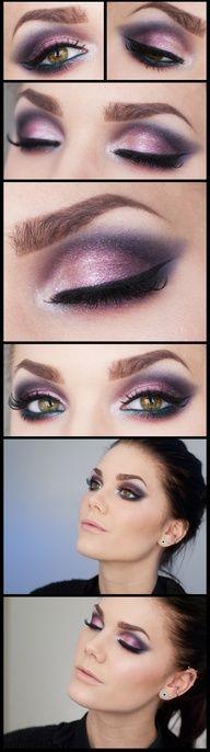 Linda Hallbergs gorgeous purple makeup!