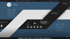 I would respect microsoft windows, if their designers have an inch of this kind of end product  The Black and Blue Desktop