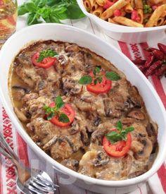 Lajos Mari konyhája - Gombás tarjaszelet Hungarian Recipes, Hungarian Food, Pork Chops, Meat Recipes, Mashed Potatoes, Paleo, Food And Drink, Beef, Dishes