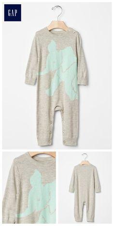 Elephant sweater one-piece