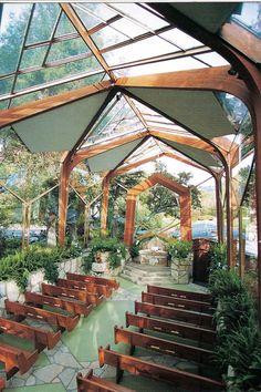 Wayfarer's Chapel designed by Lloyd Wright, son of Frank Lloyd Wright, built in 1951 in Ranchos Palos Verde, California