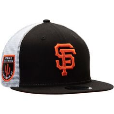 best service 2274b 70d7c Men s San Francisco Giants New Era Black League Patch 9FIFTY Trucker Hat,  Your Price   27.99