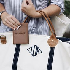 Travel in style with our monogrammed weekender tote