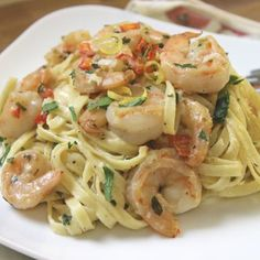 """Lemon-Shrimp Pasta: """"Fast, easy and totally delicious! An excellent recipe for a night when you are running behind and want something healthy and quick!"""" -NcMysteryShopper"""