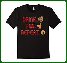 Mens Drink Pee Repeat Beer Drink Lovers Funny Tshirt 3XL Black - Food and drink shirts (*Amazon Partner-Link)