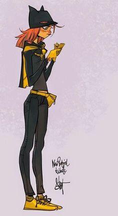 Batgirl by Otto Schmidt - Art Vault Otto Schmidt, Character Concept, Character Art, Concept Art, Animation Character, Character Sketches, Costume Batgirl, Comic Books Art, Comic Art