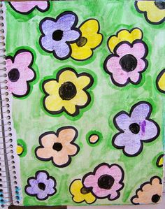 A Life Full of Passions: Art Journal - Flowers Pattern