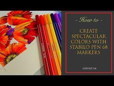 Glamorous Poppies using Stabilo 68 pens - Color Art