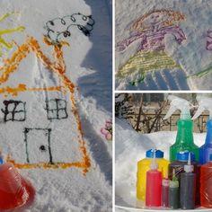 Une activité idéale pour un anniversaire d'hiver ou pour simplement profiter de l'hiver et mettre un peu de couleur dans nos paysages blancs : de la peinture pour la neige. Art For Kids, Crafts For Kids, Activities For Kids, Snoopy, Danger, Kids Rugs, Education, Tes, Winter Birthday