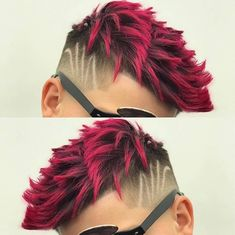 Curtiram a textura e a cor vermelha desse cabelo?