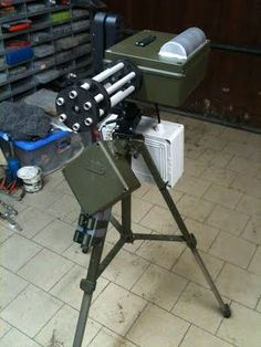 How to build and program your own fully autonomous sentry gun. Open-source code and schematics. Survival Prepping, Survival Skills, Survival Gear, Survival Shelter, Outdoor Survival, Home Defense, Airsoft Guns, Paintball Guns, Diy Electronics